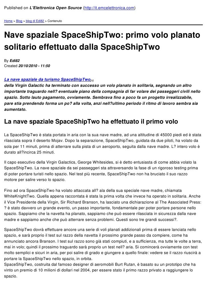 Published on LElettronica Open Source (http://it.emcelettronica.com)Home > Blog > blog di Edi82 > ContenutoNave spaziale S...