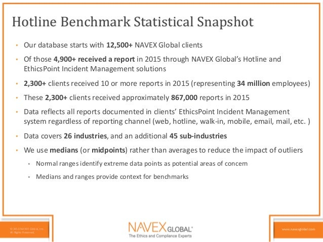 NAVEX Global's Benchmarking Your Hotline in 2016: What is your Data T…