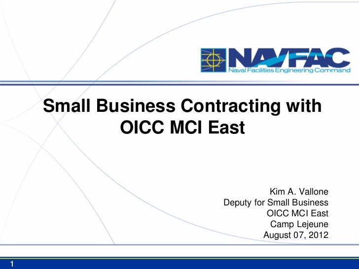 Small Business Contracting with            OICC MCI East                                   Kim A. Vallone                 ...