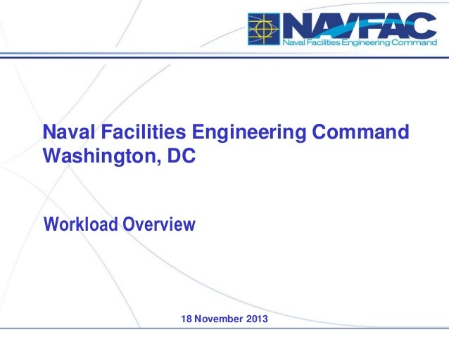 Naval Facilities Engineering Command Washington, DC  Workload Overview  18 November 2013