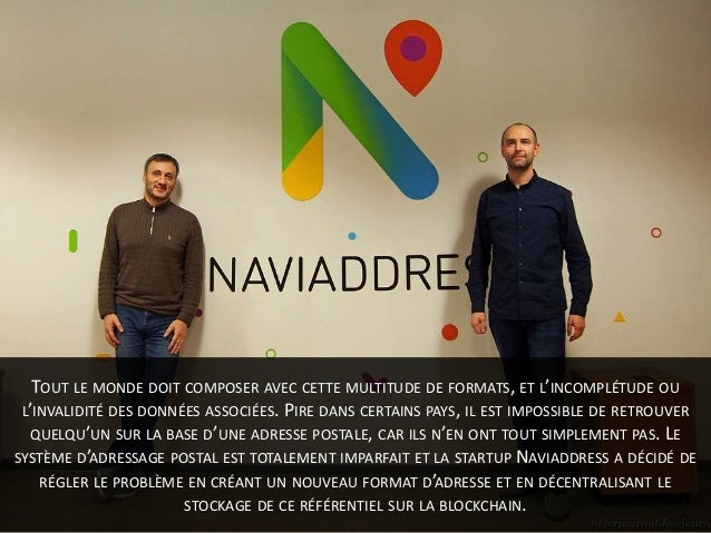Naviaddress, une ICO pour l'adressage postal numérique sur la blockchain Slide 3