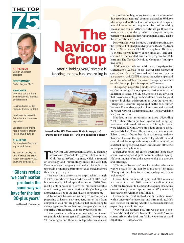 The Navicor Group, MM&M Top 75 Agencies
