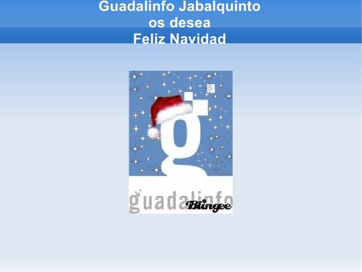 Guadalinfo Jabalquinto os desea Feliz Navidad