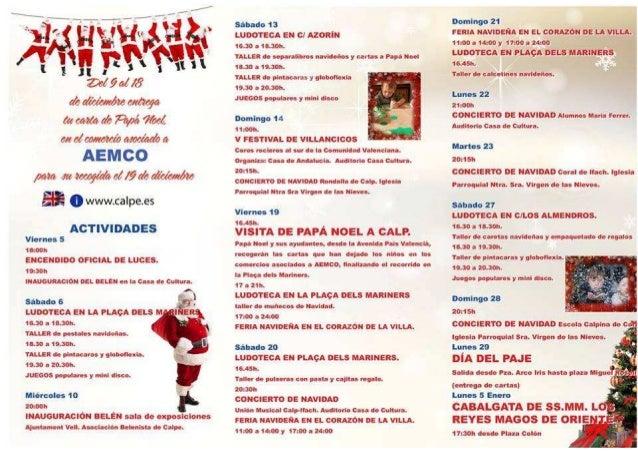 Programa Navidad Calpe 2014