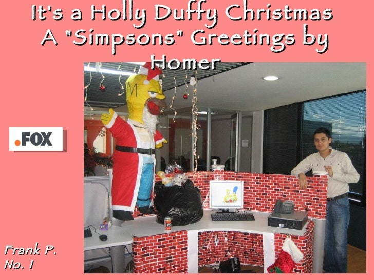 """It's a Holly Duffy Christmas  A """"Simpsons"""" Greetings by Homer Frank P. No. 1"""
