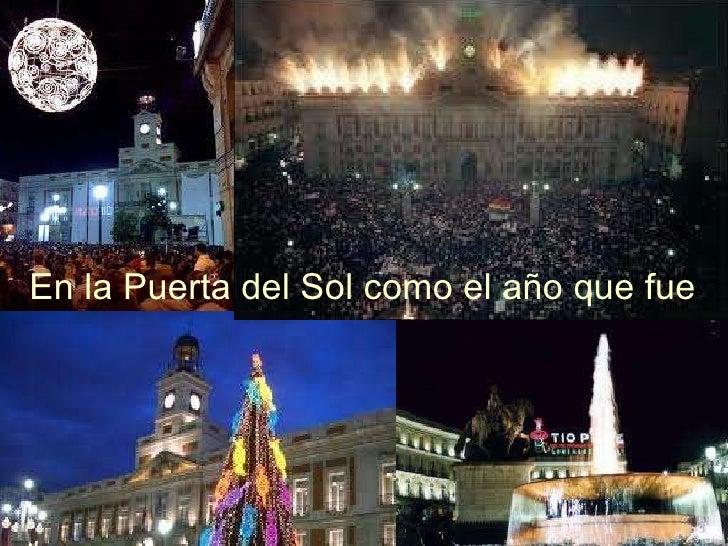 En la Puerta del Sol como el año que fue