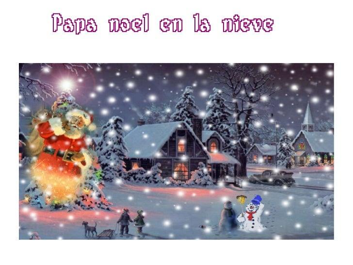 Papa noel en la nieve