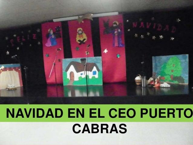 NAVIDAD EN EL CEO PUERTO CABRAS