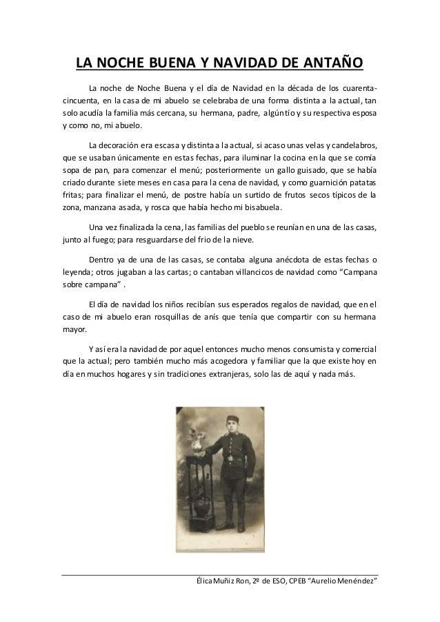 """ÉlicaMuñiz Ron,2º de ESO,CPEB """"AurelioMenéndez"""" LA NOCHE BUENA Y NAVIDAD DE ANTAÑO La noche de Noche Buena y el día de Nav..."""