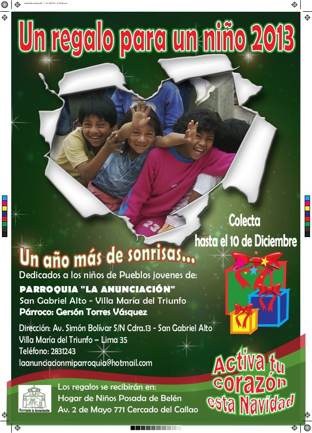 navideño nuevo.pdf 1 31/10/2013 01:35:06 a.m.  Un regalo para un niño 2013  C  M  Y  Colecta hasta el 10 de Diciembre  CM ...