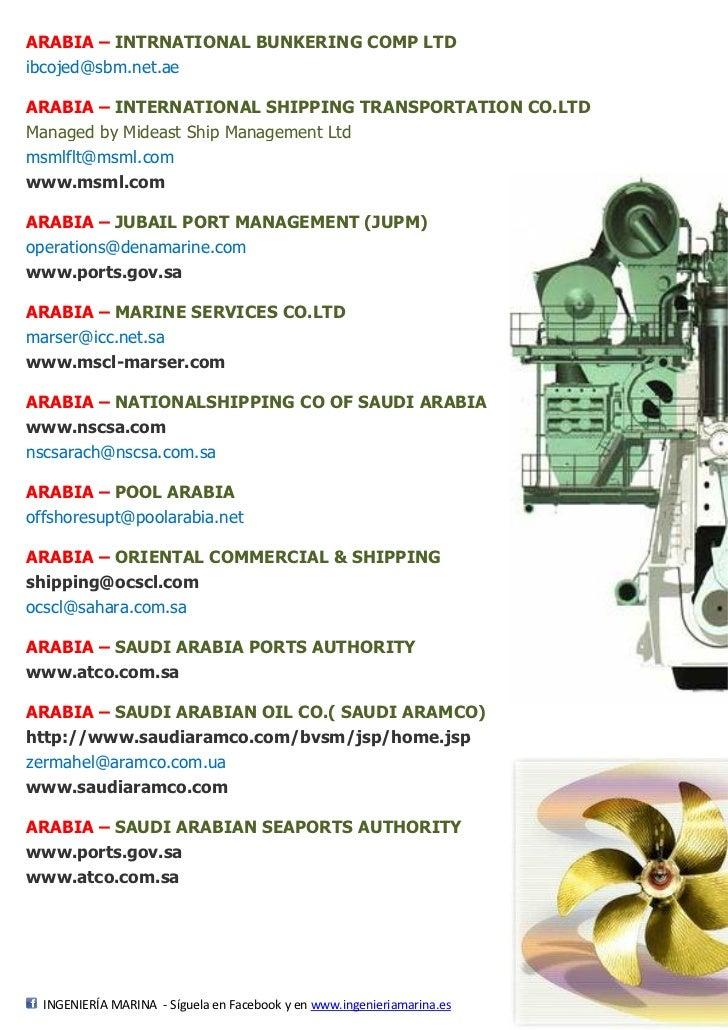 Navieras/Agencias - Países petróleo - 28 pág