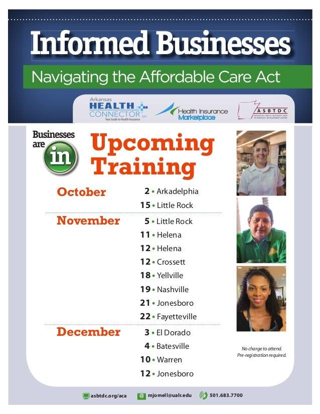Upcoming Training October  2 • Arkadelphia 15 • Little Rock  November  5 • Little Rock 11 • Helena 12 • Helena 12 • Crosse...
