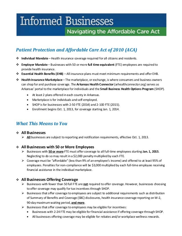 Navigating affordable care act for arkansas small businesses