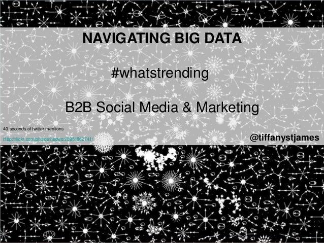 NAVIGATING BIG DATA                                               #whatstrending                                 B2B Socia...