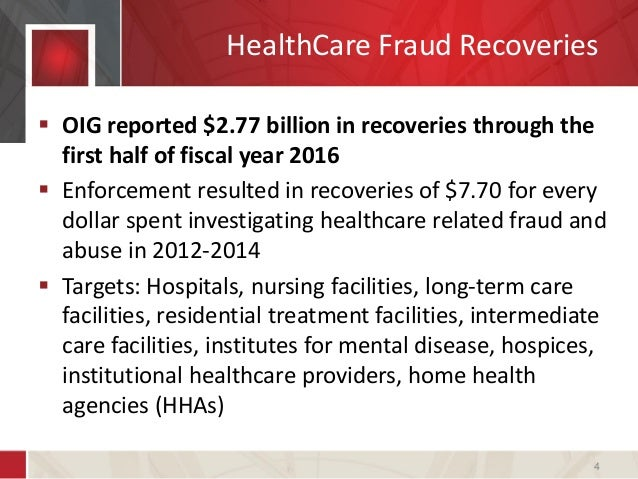 health care fraud enforcement arsenal August 2, 2016 as reported in our 2015 year-end update, in recent years, both the department of justice (doj) and the department of health and human services (hhs) have demonstrated an increased commitment to holding providers accountable for fraud and abuse of the health care system 2016 is no different.