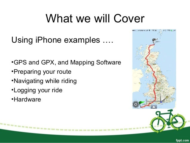 Navigating on bikes using a smartphone