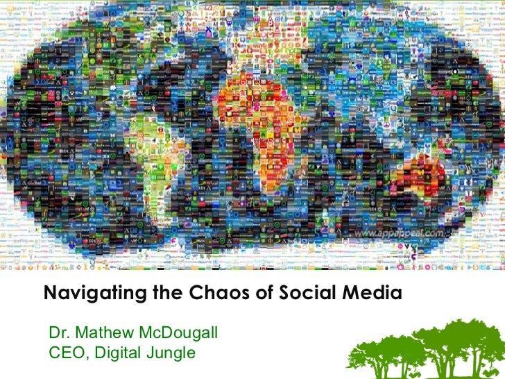 The Digital Marke.ng Experts Navigating the Chaos of Social MediaDr. Mathew McDougallCEO, Digital Jungle
