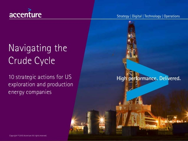 Navigating the Crude Cycle 10 strategic actions for US exploration and production energy companies Copyright © 2015 Accent...