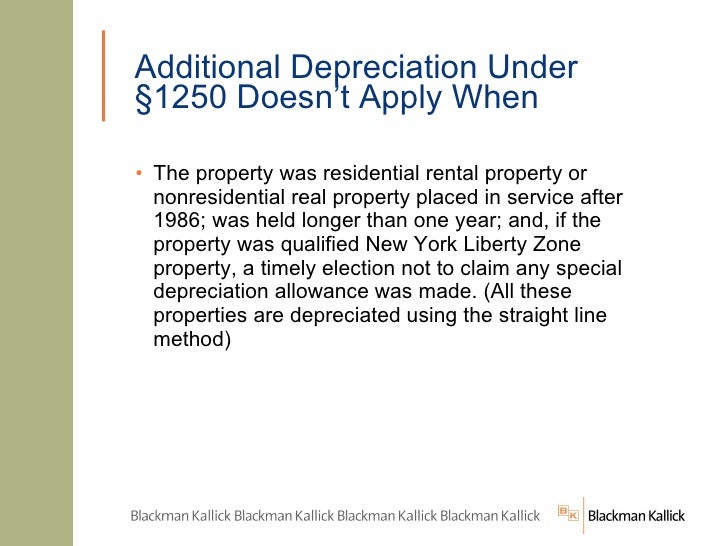 Acrs Depreciation Residential Rental Property