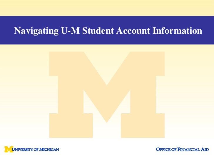 Navigating U-M Student Account Information