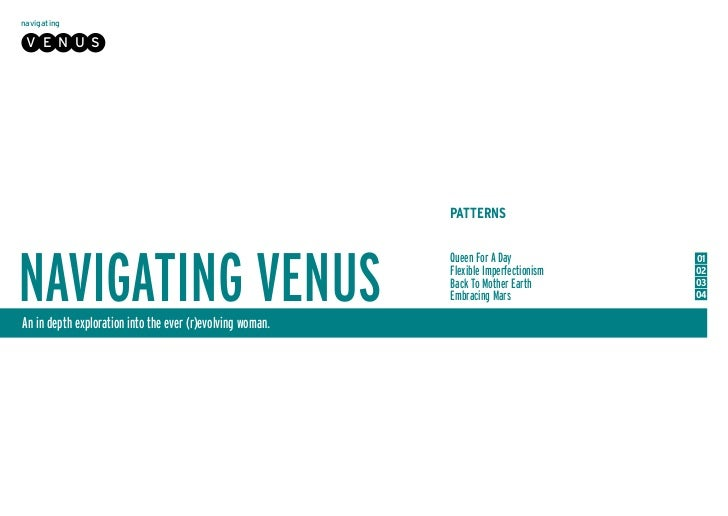 navigating V E N U S                                                           PATTERNSNAVIGATING VENUS                   ...