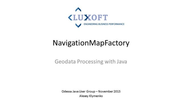 Navigation map factory by Alexey Klimenko