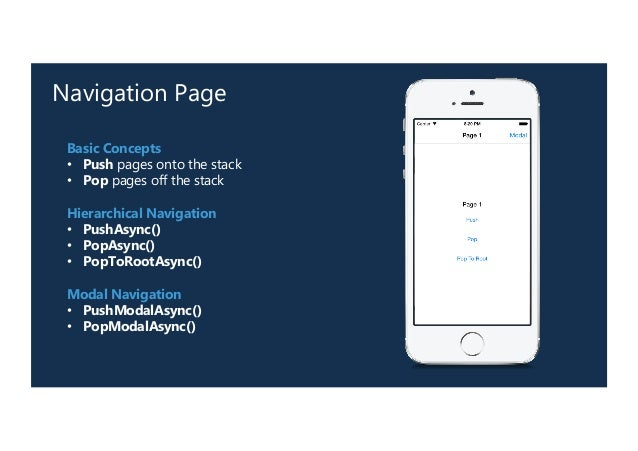 Navigation in Xamarin Forms