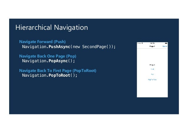 Navigation in Xamarin Forms