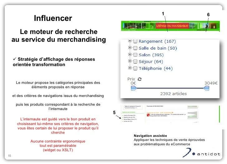 <ul><ul><li>Stratégie d'affichage des réponses orientée transformation </li></ul></ul><ul><ul><li>Navigation assistée </li...