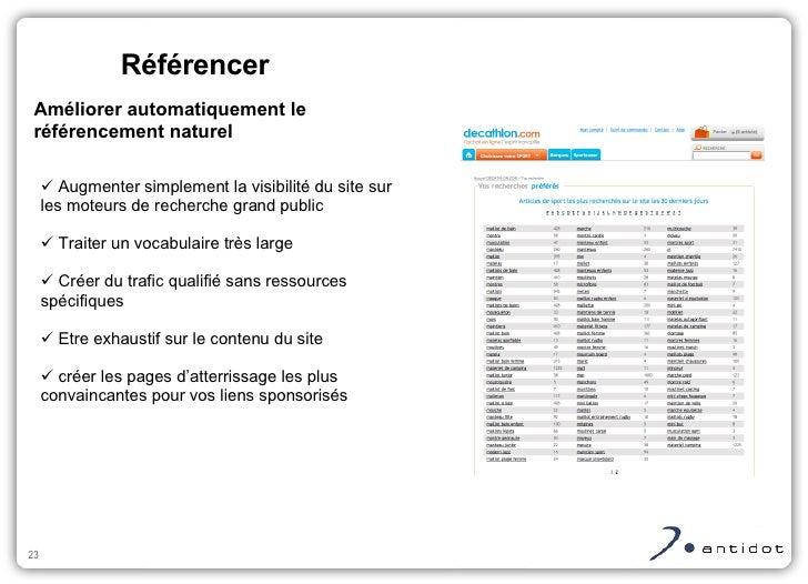 <ul><ul><li>Augmenter simplement la visibilité du site sur les moteurs de recherche grand public </li></ul></ul><ul><ul><l...