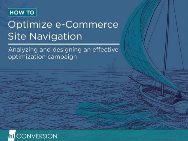How to Optimize eCommerce Site Navigation Menus