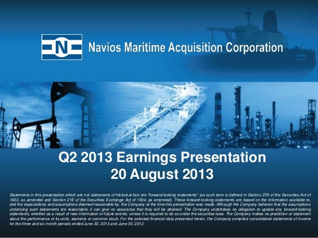Q2 2013 Earnings Presentation 20 August 2013 Statements in this presentation which are not statements of historical fact a...