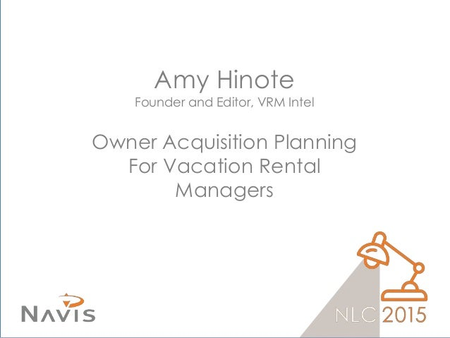 Vacation Rental Management: Homeowner Acquisition Planning