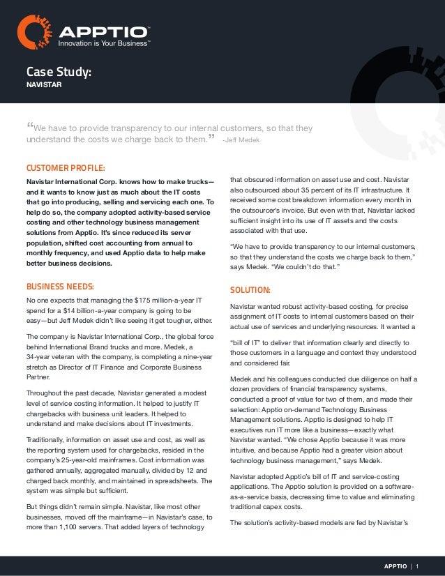 navistar case study analysis