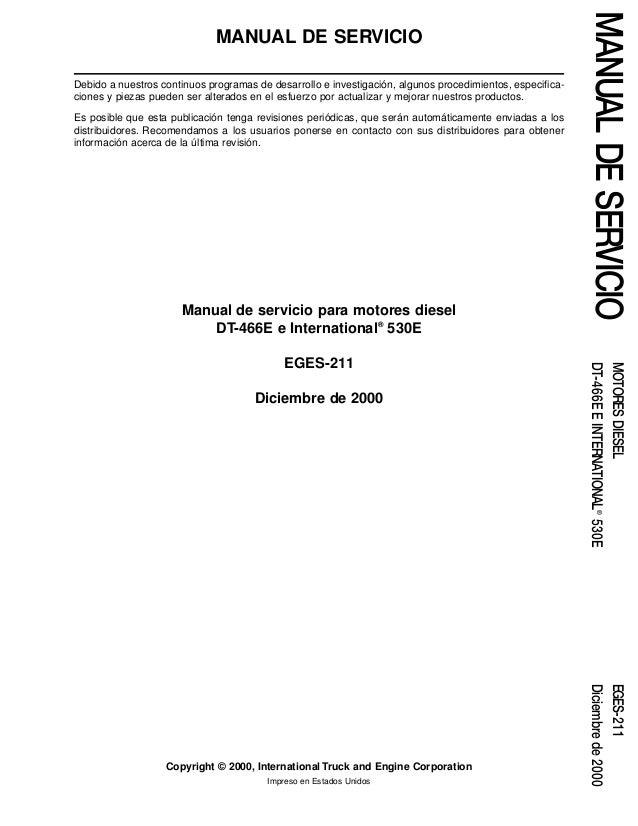 navistar manual de servicio dt466 i530e rh es slideshare net International DT466E Service Manual International DT466E Engine Diagram