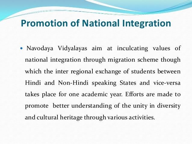 Navodaya as pace setting institute