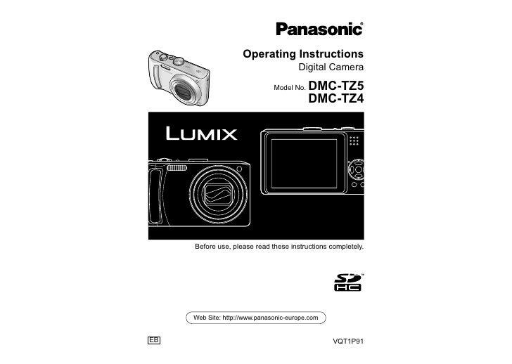 Operating Instructions                                       Digital Camera                               Model No.   DMC-...