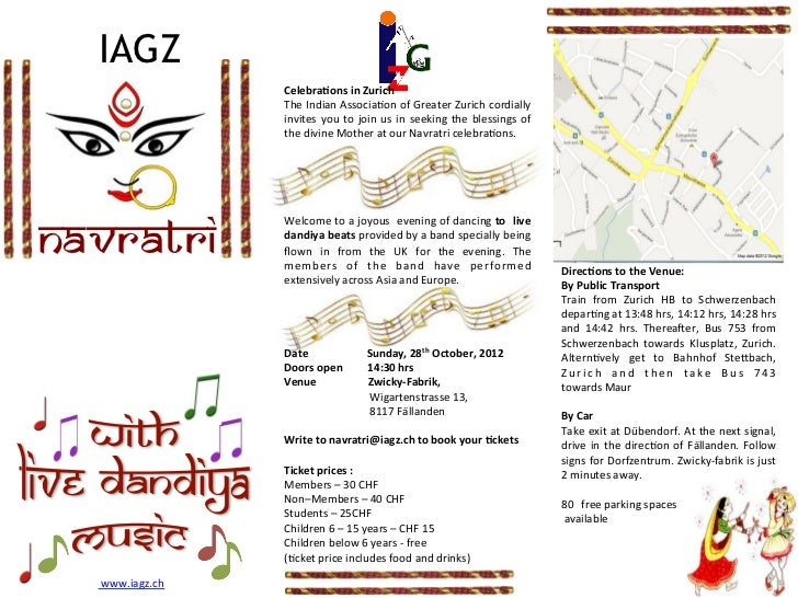 Navratri brochure 2012 iagz celebraons in zurich stopboris Image collections