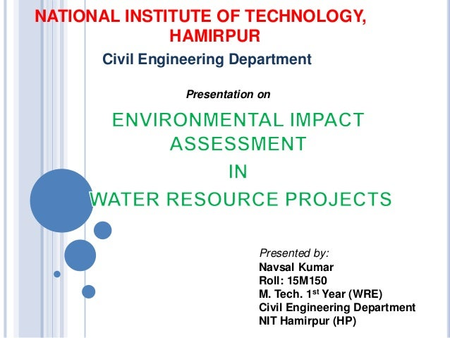 Environmental Impact Assessment in Water Resources Projects