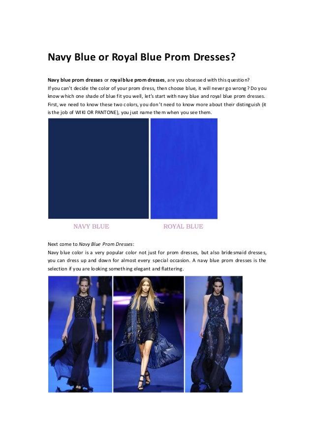 Navy Blue Prom Dresses Or Royal Blue Prom Dresses