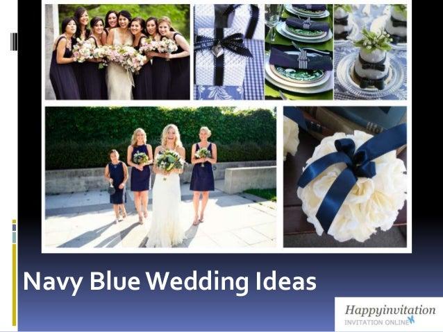 Navy blue color themed wedding ideas from happyinvitation navy bluewedding ideas junglespirit Gallery