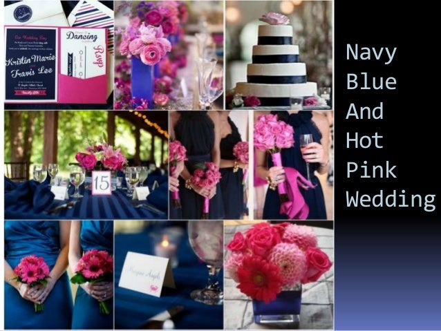 Fuschia And Orange Wedding Invitations: Navy Blue Color Themed Wedding Ideas From Happyinvitation