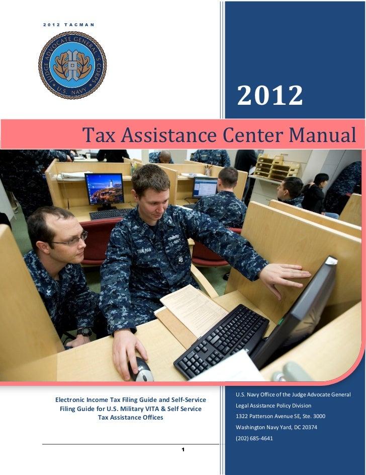 2 0 1 2   T A C M A N                                                           2012                Tax Assistance Center ...