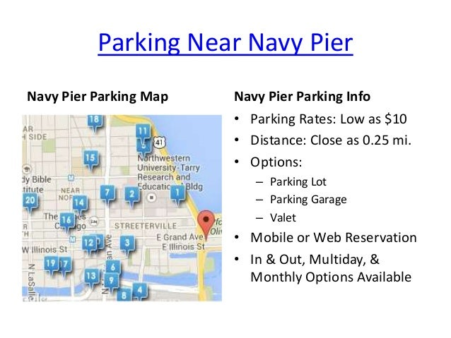 Navy Pier Parking In Chicago Il Map Rates Options From Spothero
