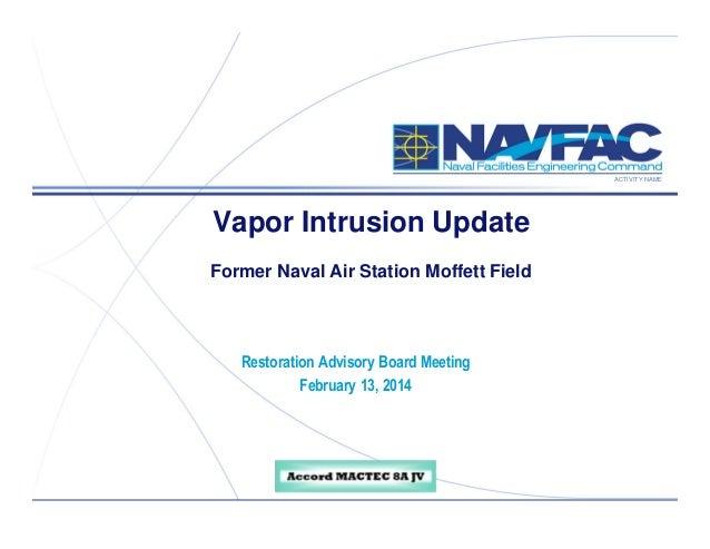 ACTIVITY NAME  Vapor Intrusion Update Former Naval Air Station Moffett Field  Restoration Advisory Board Meeting February ...