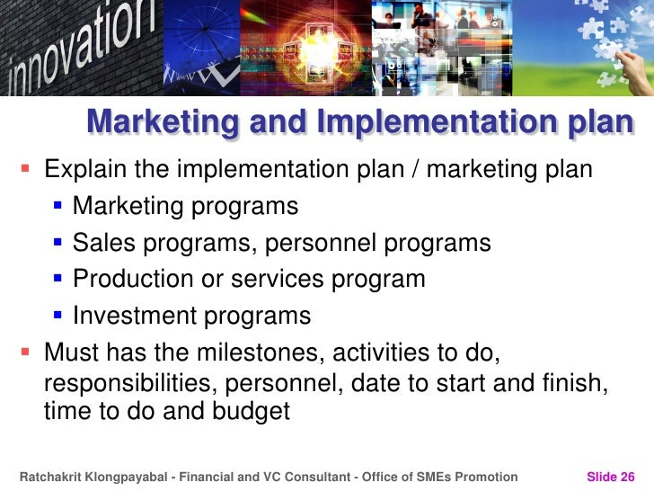 implementation of new product service or process purpose marketing essay Executive summary marketing is the process of planning and executing the conception, pricing, promotion and distribution of ideas, goods and services to create exchanges that satisfy individual and organizational goals.