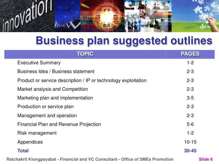 Business Plan for new innovation