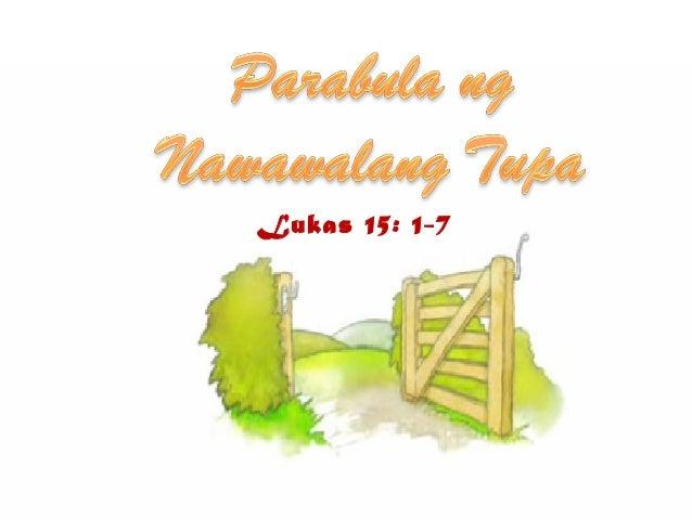 Lukas 15: 1-7