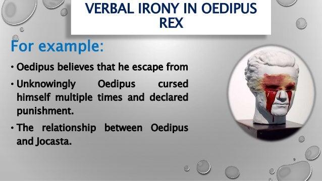 verbal irony in oedipus rex