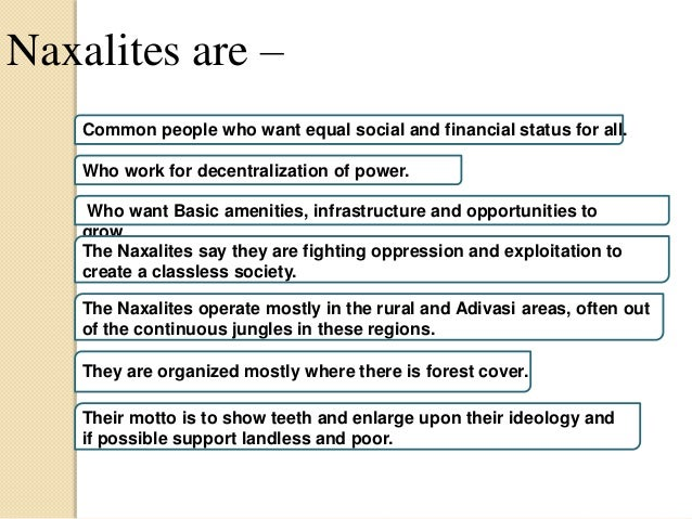 On Naxalism